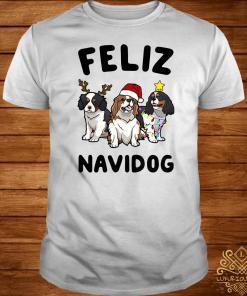 Cavalier King Charles Spaniel Feliz Navidog Shirt