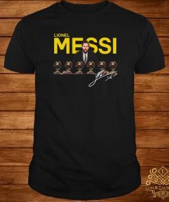 Lionel Messi Six Golden Ball Signature Shirt