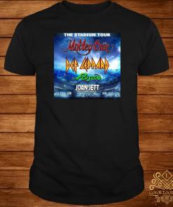 The Stadium Tour Motley Crue Def Leppard Poison Joan Jett Shirt