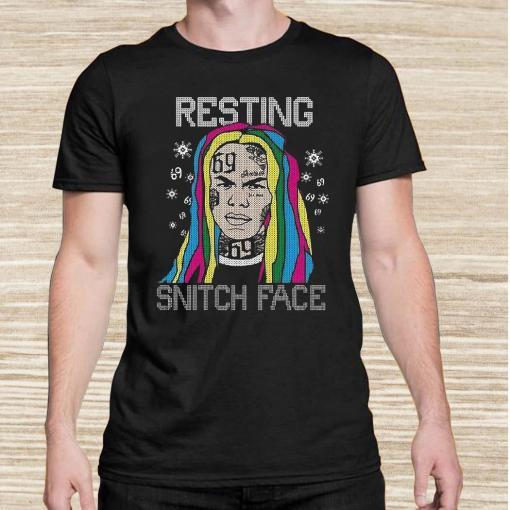 Tekashi69 Resting Snitch Face Ugly Christmas Unisex