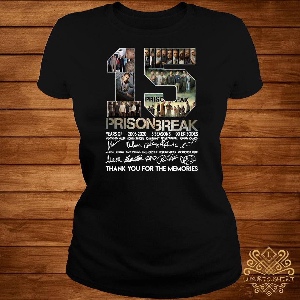 15 Years Of Prison Break Thank You For The Memories ladies Tee