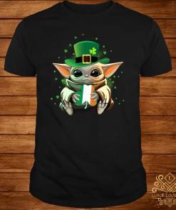 Baby Yoda Hug St Patrick's Day Shirt