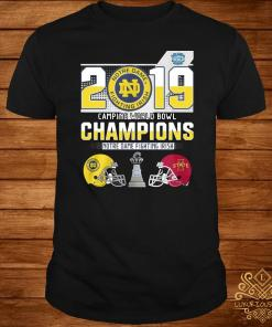 Notre Dame Fighting Irish 2019 Camping World Bowl Champions Shirt