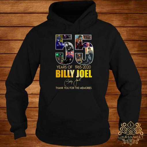 55 Years Of 1965 2020 Billy Joel Thank You For The Memories Hoodie