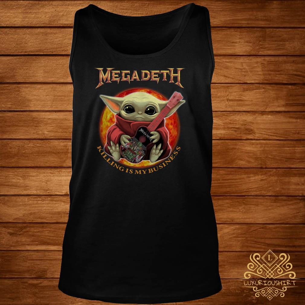 Baby Yoda Hug Megadeth Guitar Killing My Business Tank-top
