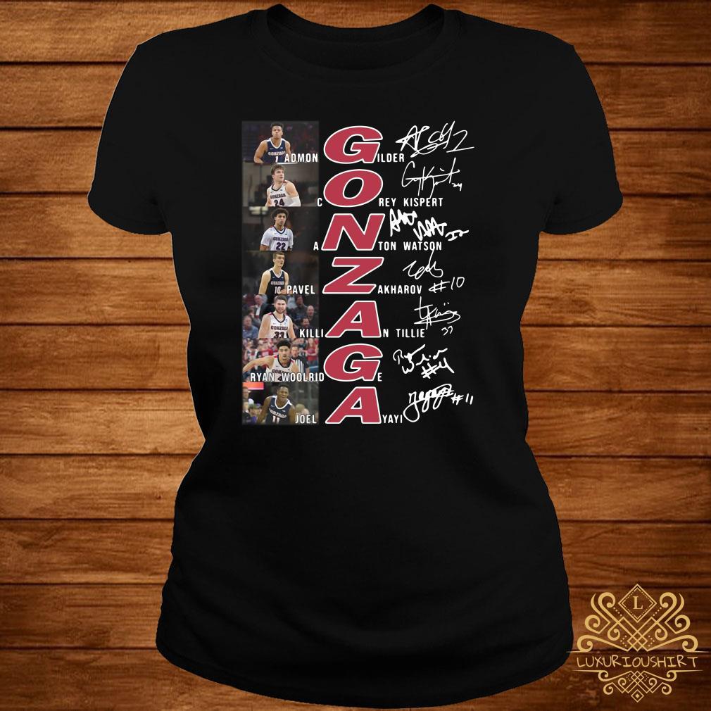 Gonzaga Basketball All Team Signature ladies Tee