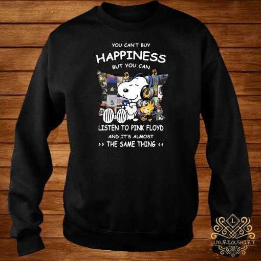 Snoopy And Woodstock You Can't Buy Happiness But You Can Listen To Pink Floyd Sweater