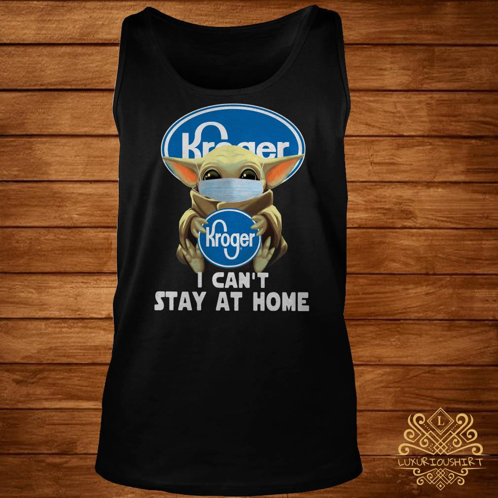 Baby Yoda Face Mask Hug Kroger I Can't Stay At Home Tank-top
