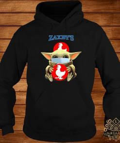 Baby Yoda Mask Hug Zaxby's Shirt hoodie
