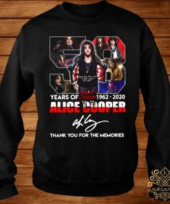 58 Years Of 1962 2020 Alice Cooper Thank You For The Memories Shirt sweater
