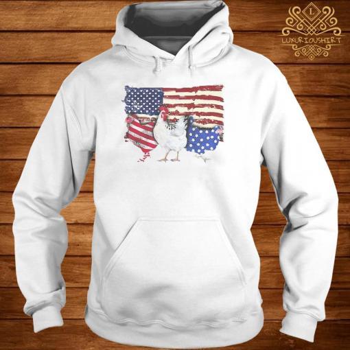 Chicken Flag USA American Flag Veteran Shirt hoodie