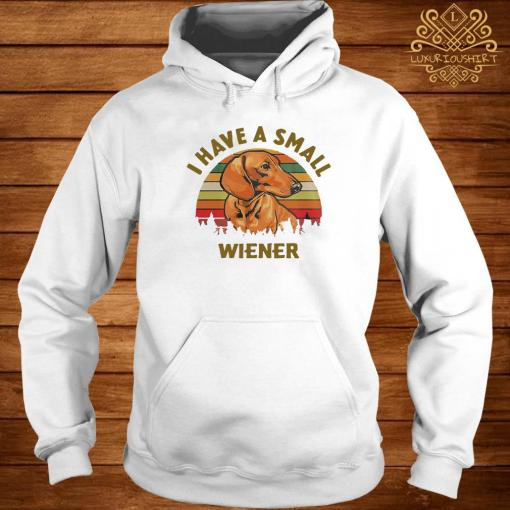 Dachshund I Have A Small Wiener Vintage Shirt hoodie