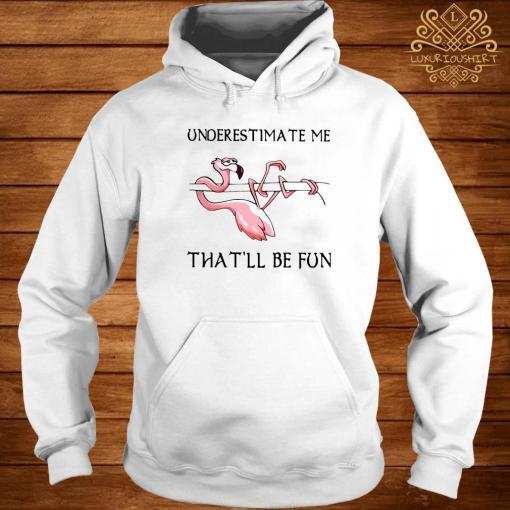 Flamingo Underestimate Me That'll Be Fun Shirt hoodie