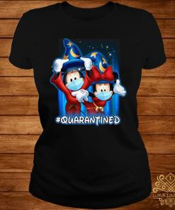 Mickey And Minnie Mouse Mask Fantasia Quarantined Shirt ladies-tee