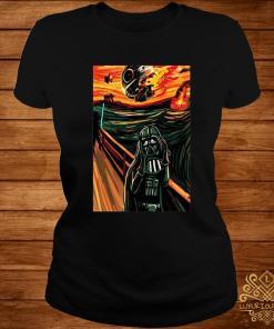 Munch The Scream Darth Vader Star War Shirt ladies-tee