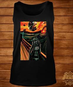 Munch The Scream Darth Vader Star War Shirt tank-top