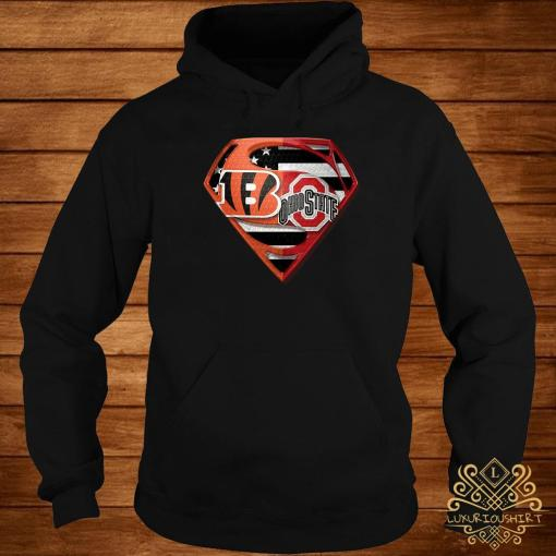 Ohio State Buckeyes And Cincinnati Bengals Superman Shirt hoodie