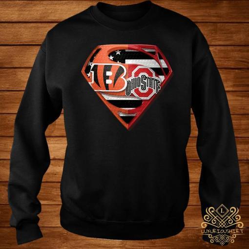 Ohio State Buckeyes And Cincinnati Bengals Superman Shirt sweater