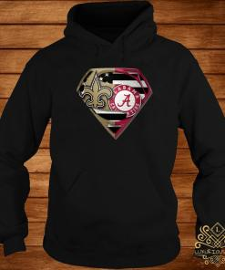 Orleans Saints And Alabama Crimson Superman Shirt hoodie