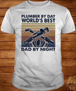 Plumber By Day World's Best Dad By Night Vintage Shirt