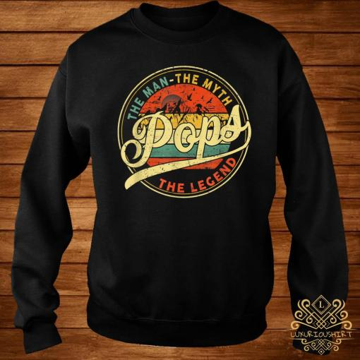 The Man The Myth Pops The Legend Vintage Shirt sweater