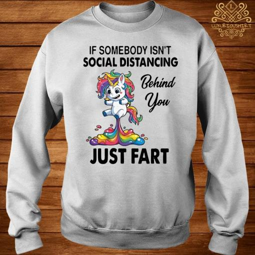 Unicorn If Somebody Isn't Social Distancing Behind You Just Fart Shirt sweater