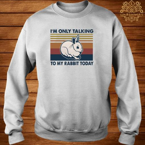 I'm Only Talking To My Rabbit Today Vintage Shirt sweater