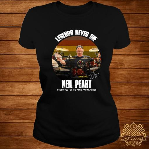 Legends Never Die Neil Peart Thank You For The Memories Shirt ladies-tee