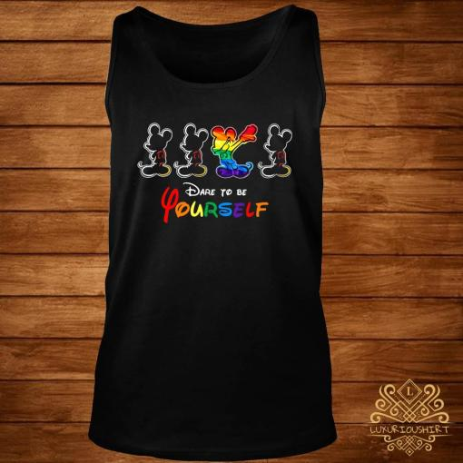 LGBT Mickey Mouse Dare To Be Yourself Shirt tank-top