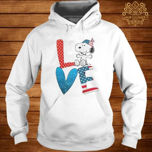 Snoopy Love American 4th Of July Shirt hoodie