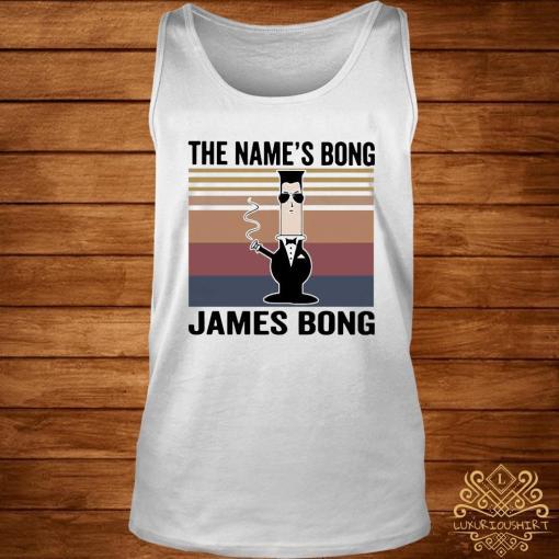 The Name's Bong James Bong Vintage Shirt tank-top