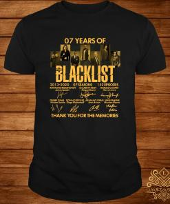 07 Years Of Blacklist 2013 2020 Thank You For The Memories Signatures Shirt