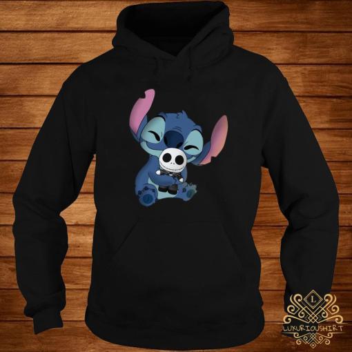 Baby Stitch Hug Baby Jack Skeleton Shirt hoodie