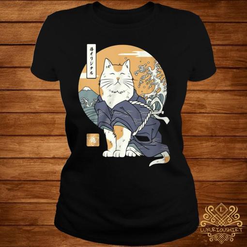 Cat Samurai Shirt ladies-tee