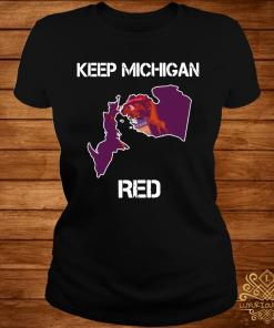 Keep Michigan Red Shirt ladies-tee