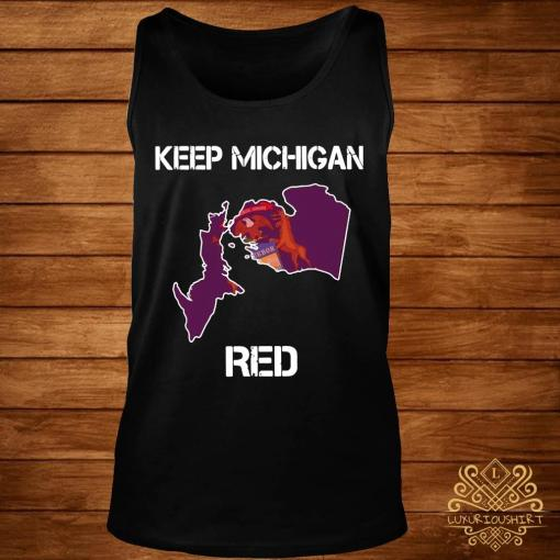 Keep Michigan Red Shirt tank-top