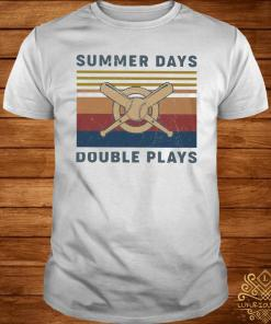 Baseball Summer Days Double Plays Vintage Shirt