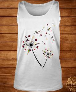 Wine Dandelion Flower Shirt tank-top