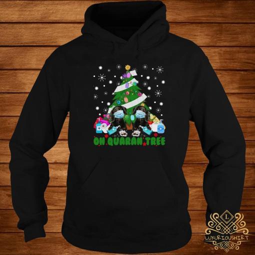 Daschund Oh Quaran Tree Shirt hoodie