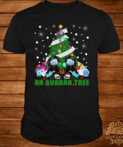 Daschund Oh Quaran Tree Shirt