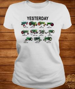 Yesterday Tractors Shirt ladies-tee