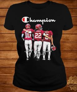 Alabama Crimson Tide Mac Jones Harris Smith Champion Signatures Shirt ladies-tee