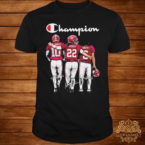 Alabama Crimson Tide Mac Jones Harris Smith Champion Signatures Shirt