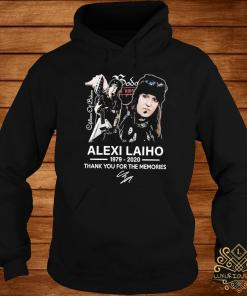 Alexi Laiho 1979 2020 Thank You For The Memories Signature Shirt hoodie