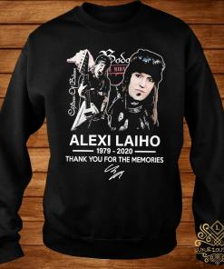 Alexi Laiho 1979 2020 Thank You For The Memories Signature Shirt sweater