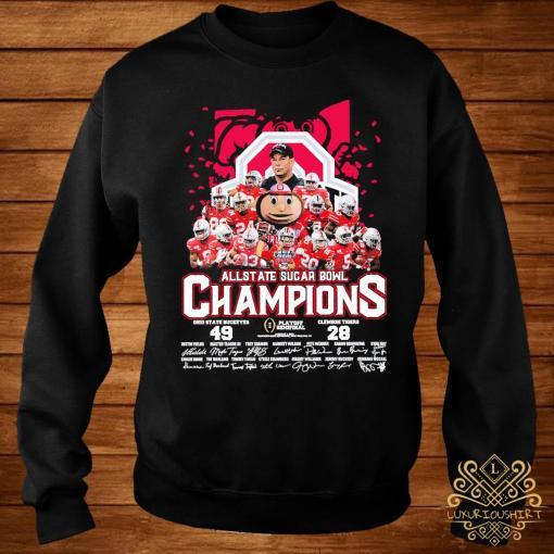 Allstate Sugar Bowl Champions Ohio State Buckeyes 49 Clemson Tigers 28 Signatures Shirt sweater