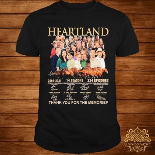 Heartland 2007 2021 14 Seasons 224 Episodes Thank You For The Memories Signatures Shirt