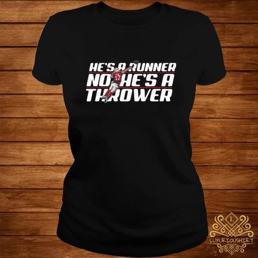 Josh Allen Runner No He's A Thrower Shirt ladies-tee