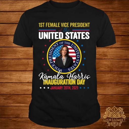Kamala Harris First Female Vice President Inauguration Day Shirt