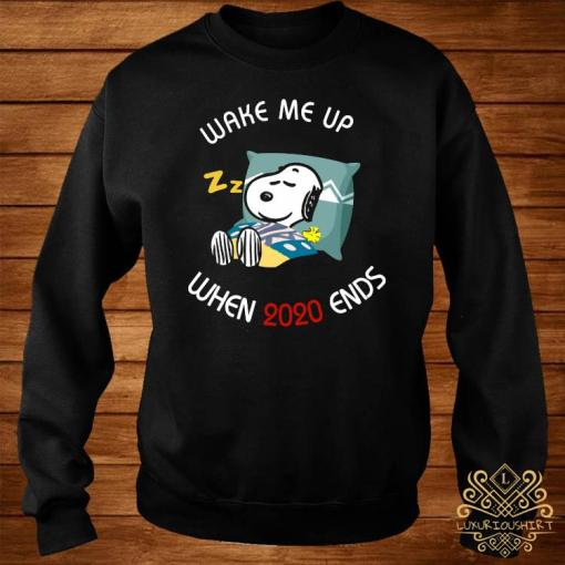 Snoopy Wake Me Up When 2020 Ends Shirt sweater